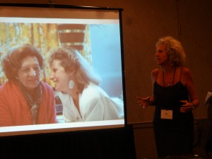 Dr Joffe Ellis gives a workshop on REBT, and participates in a symposium on Coping with Death and Dying, and Healthy Grief, She is pictured with her beautiful mother.