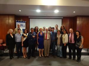 Dr Joffe Ellis with the participants