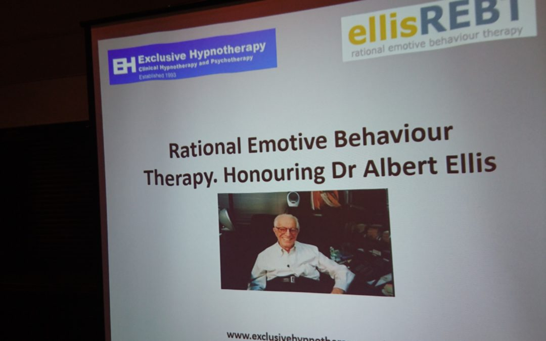 Rational Emotive Behaviour Therapy, Honouring Dr Albert Ellis at The British Psychological Conference, Brighton May 2017 with Robin Thorburn